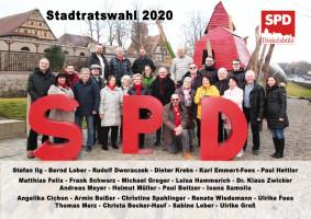 Die SPD-Stadtratsliste 2020