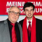 Die Vorsitzenden der bisherigen SPD-Ortsvereine Günther Schuster (Rothenburg) und Christoph Rösch (Gebsattel)
